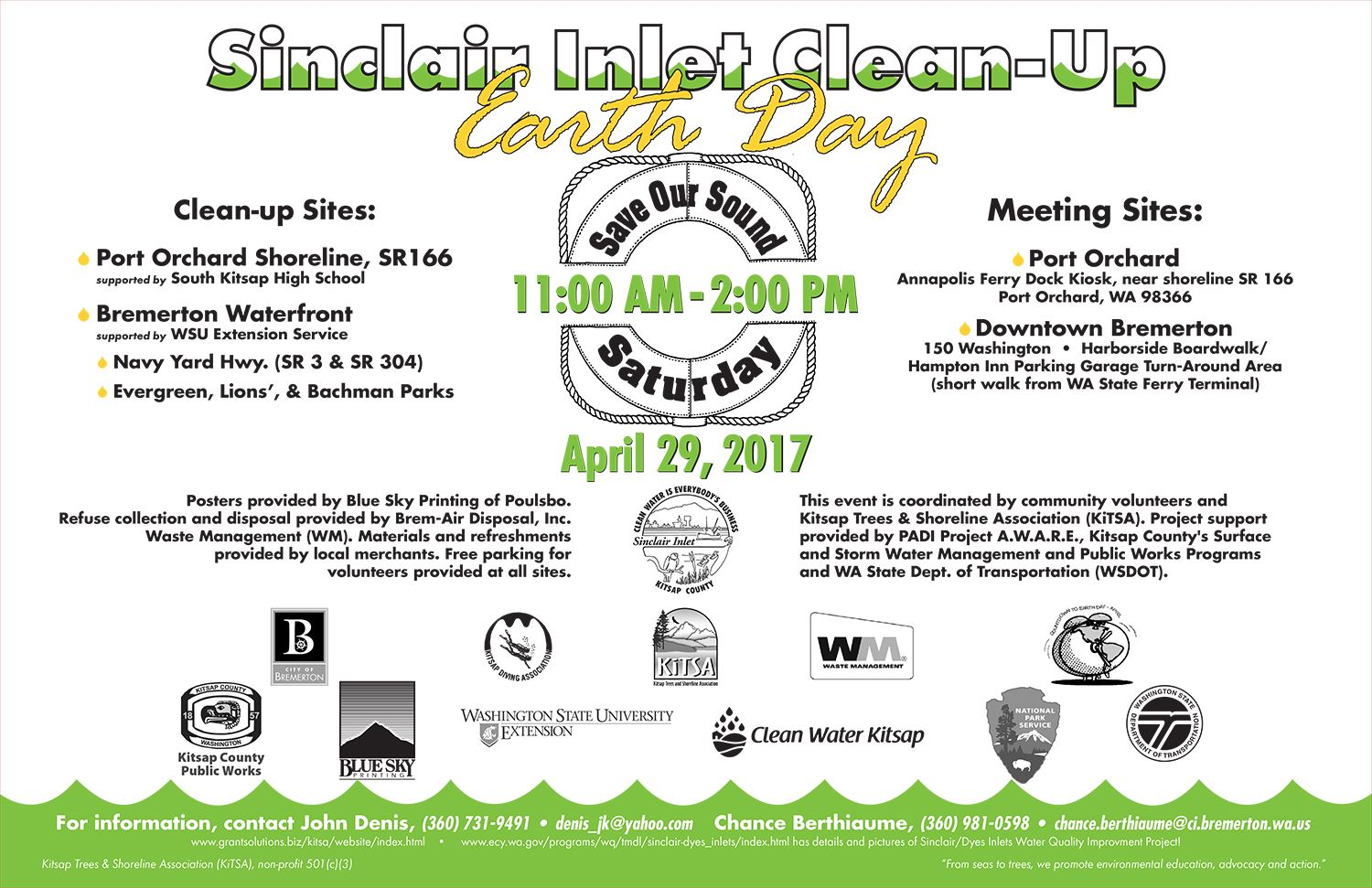 Sinclair Inlet Cleanup 2017