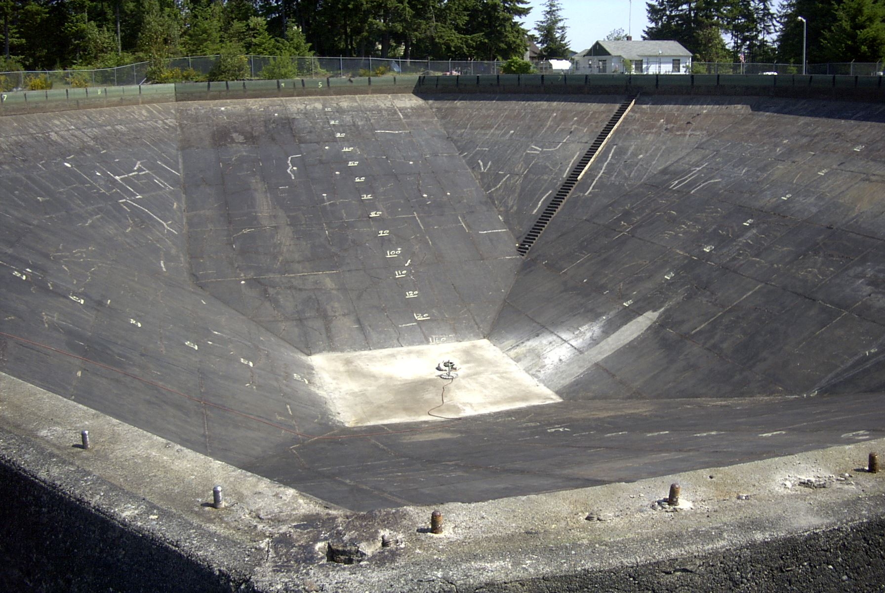 227 reservoir with concrete added in bottom
