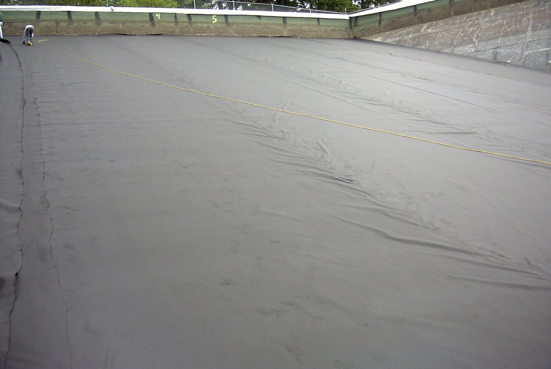 245 geotextile on North panel