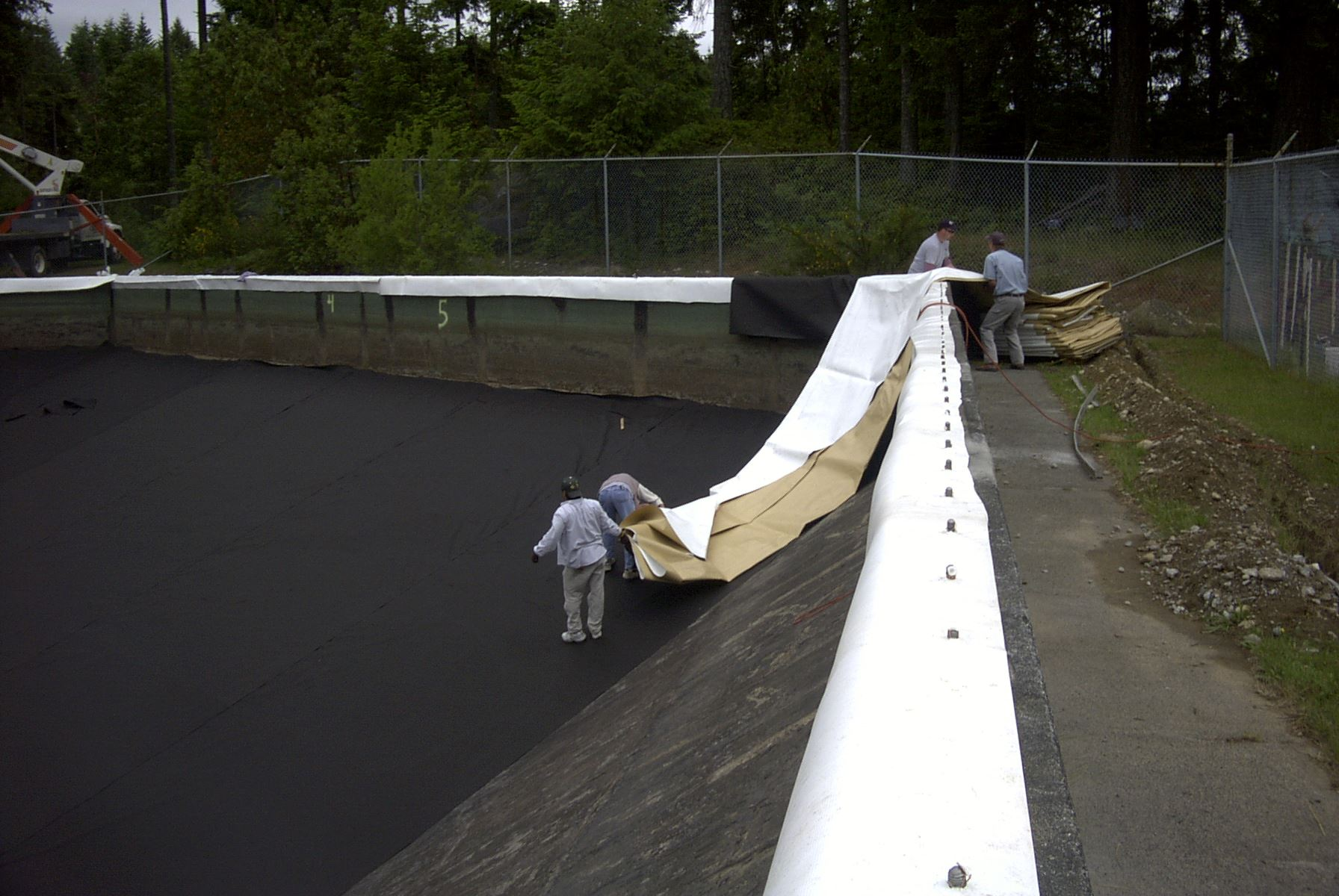 248 installation of liner, chaffing strip on top