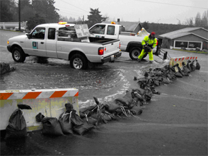 Public Works Sandbagging