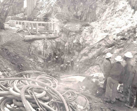 Casad Dam Excavation Work