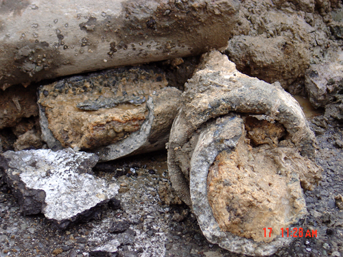 Concrete Pipe Destroyed by Grease Over Several Yea